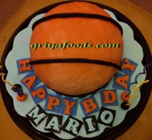 Fondant Cake, Jual Fondant Di Pekanbaru, Fondant Cake di pekanbaru, Pesang Fondant Cake, Bola Basket, Tart Ulang Tahun Fondant, Cake Ulang Tahun